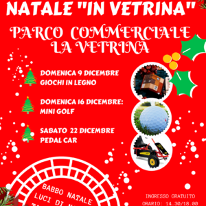 "Natale "" In Vetrina"", 3 week end  di giochi e sorprese"